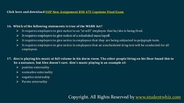 Ethics Final Exam