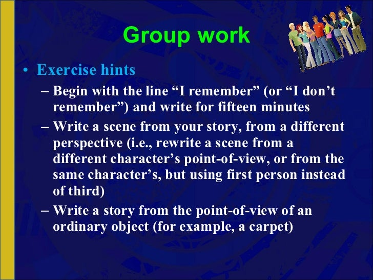 Writing Lesson; Writing in Third Person Point of View