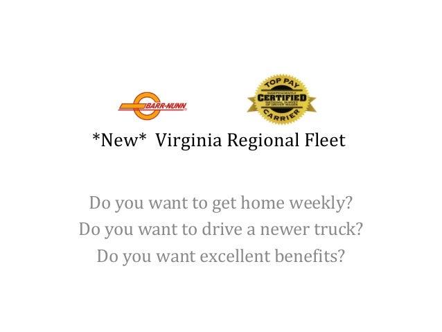 barr nunn transportation new virginia regional fleet do you want to get home weekly