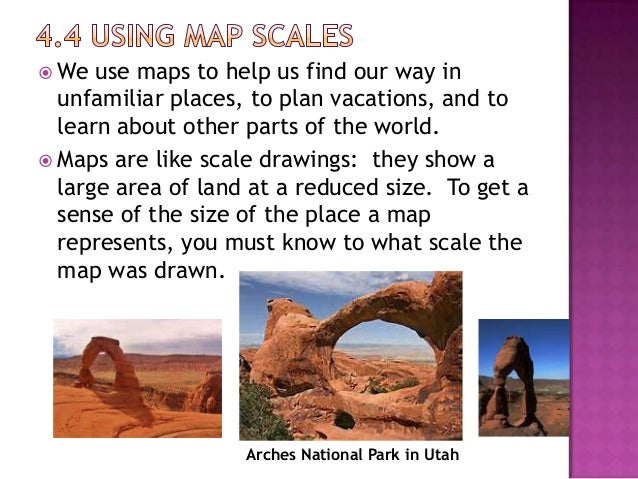  Here  is a map of the state of Utah.  You can use the scale on the map to calculate distances.