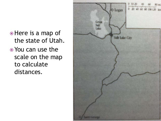 A.  How can you use the scale on the map to calculate the scale factor between the map and the real state? What is the sca...