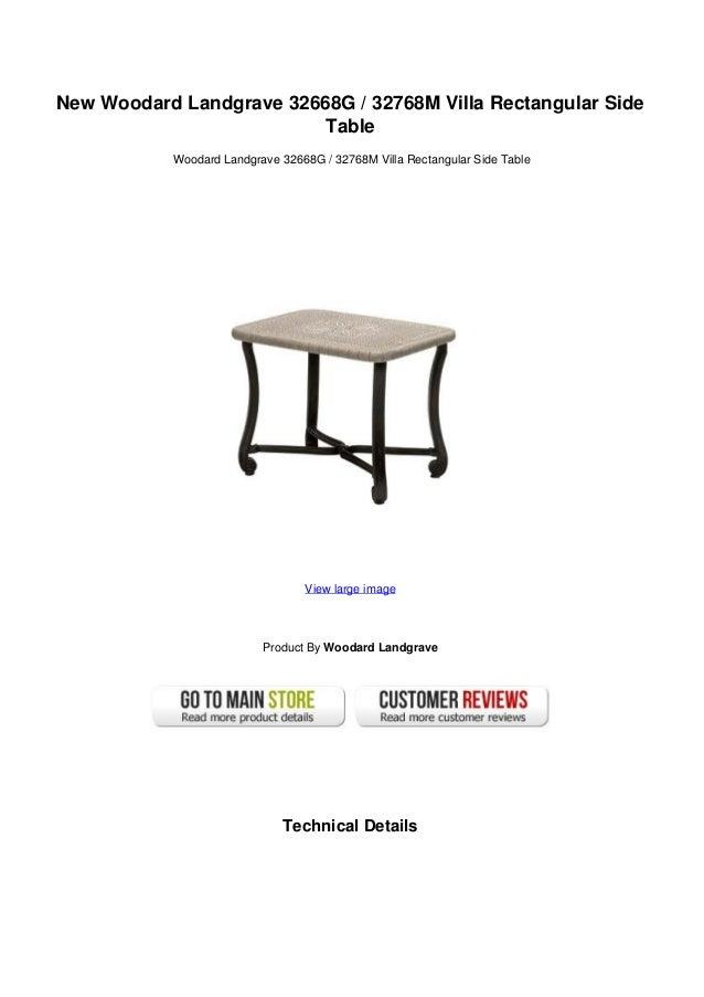 New Woodard Landgrave 32668G / 32768M Villa Rectangular Side Table ...