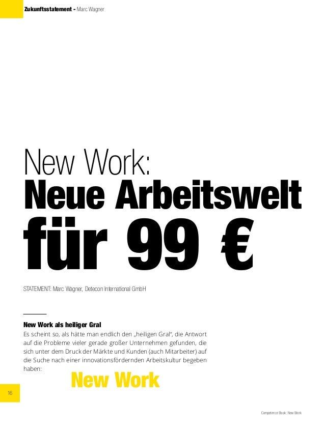 16 Competence Book: New Work Zukunftsstatement - Marc Wagner New Work: Neue Arbeitswelt für 99 €STATEMENT: Marc Wagner, De...