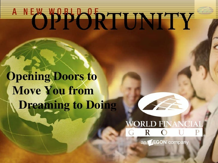 Opening Doors to  Move You from  Dreaming to Doing