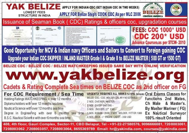 Take (COC) CAMEROON & SRILANKA | SEAMAN - BELIZE SEAMAN (COC) CDC + C…