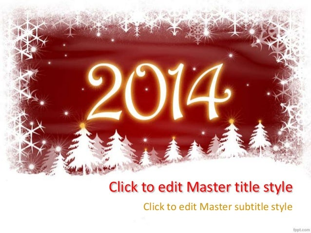 New Year 2014 Free Powerpoint Template And Background To Celebrate Ho