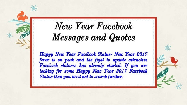 new year facebook messages and quotes