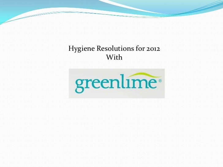 Hygiene Resolutions for 2012          With