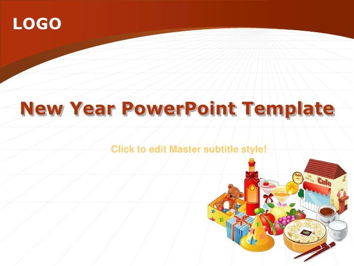New Year PowerPoint Template<br />Click to edit Master subtitle style!<br />