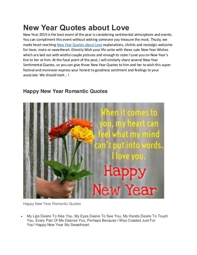 New Year Quotes About Love