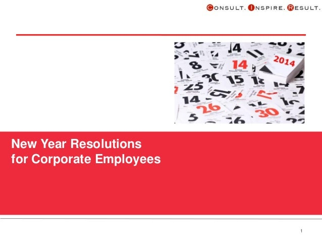 New Year Resolutions for Corporate Employees  1