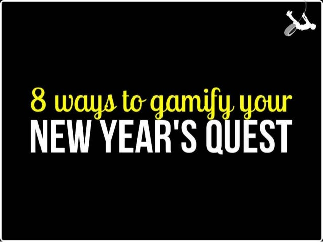 8 Ways to Gamify Your New Year's Resolution