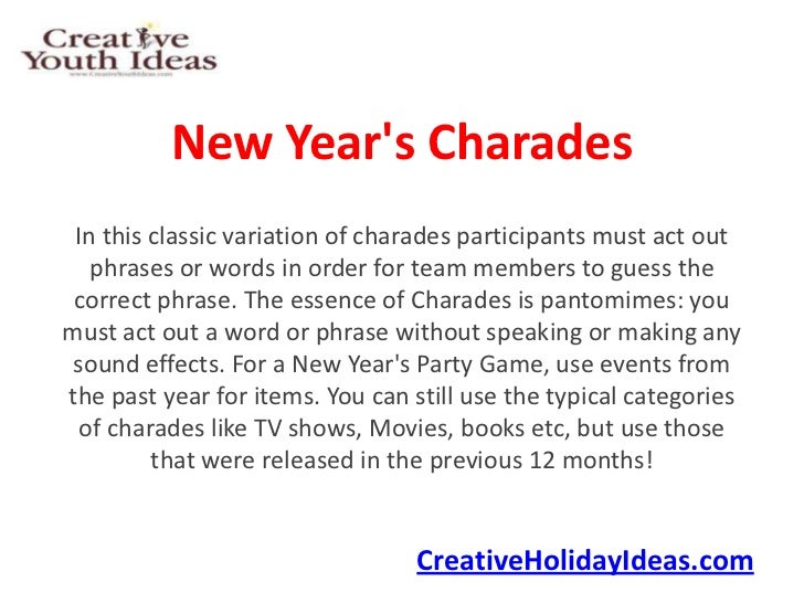 New Year\'s Charades