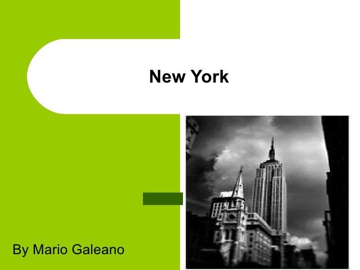 New York By Mario Galeano