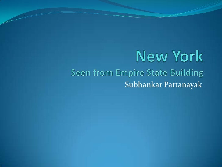 New YorkSeen from Empire State Building<br />Subhankar Pattanayak<br />