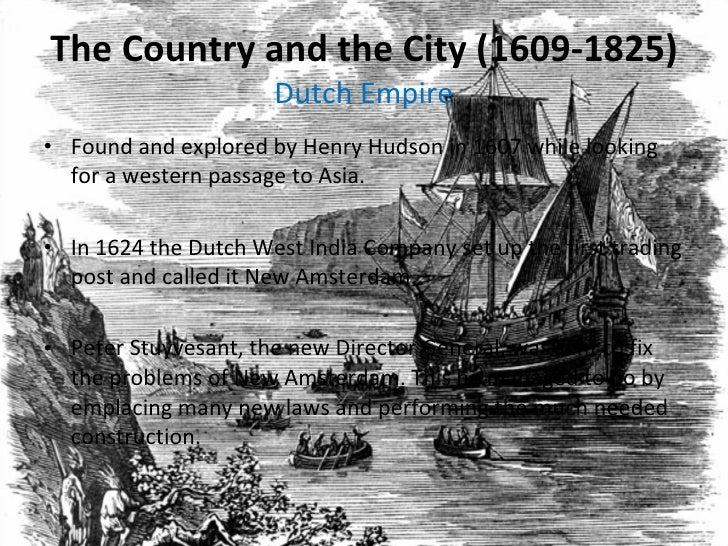 ... 2. The Country and the City (1609-1825) ...