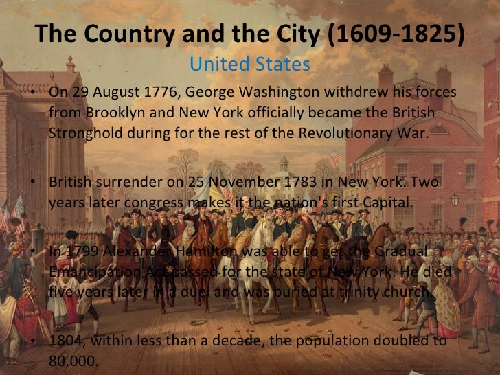 ... 4. The Country and the City (1609-1825) United ...
