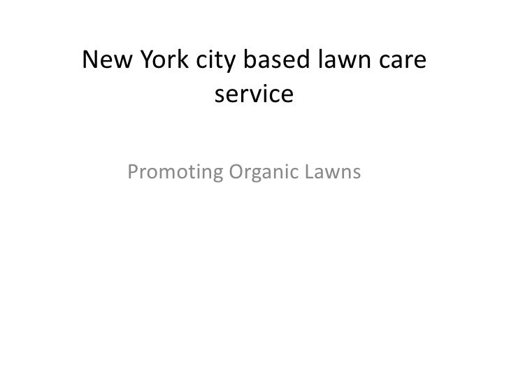 New York city based lawn care           service   Promoting Organic Lawns
