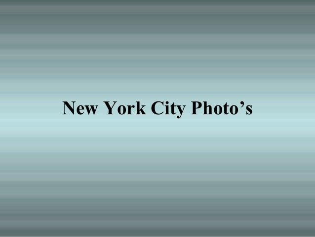 New York City Photo's