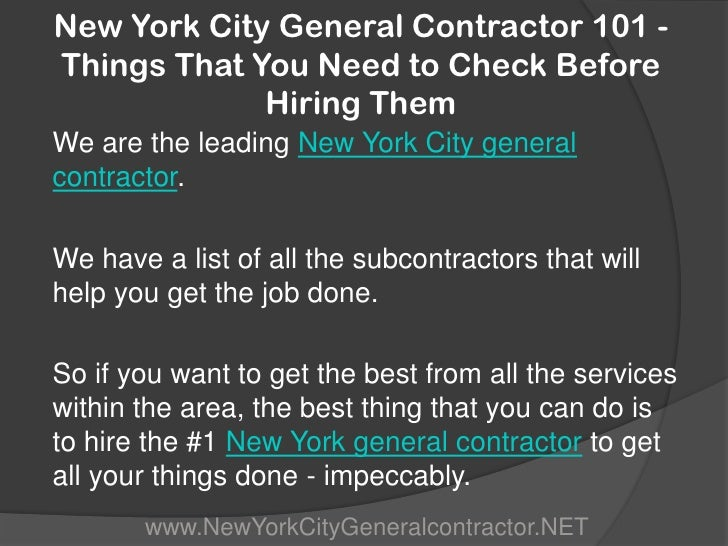 New york city general contractor 101 things that you for New york city things to see