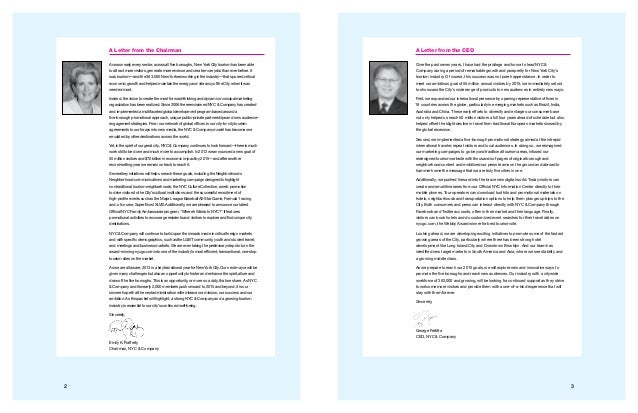 32 A Letter from the CEO Over the past seven years, I have had the privilege and honor to lead NYC & Company during a peri...