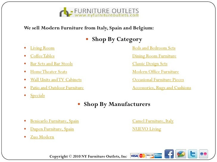 We sell Modern Furniture from Italy, Spain and Belgium:                                 Shop By Category Living Room    ...