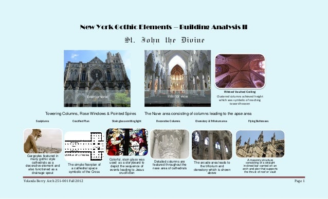 New York Gothic Elements – Building Analysis II                                                                   St. John...