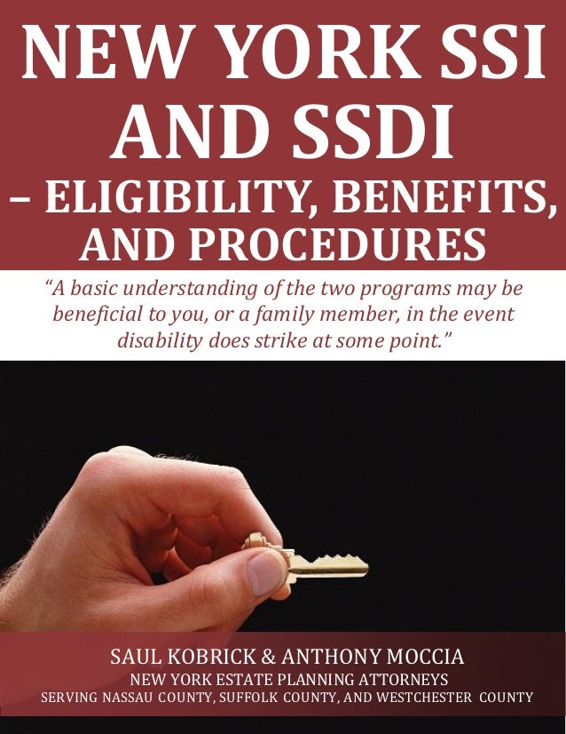 New York SSI and SSDI - Eligibility, Benefits, and Procedures