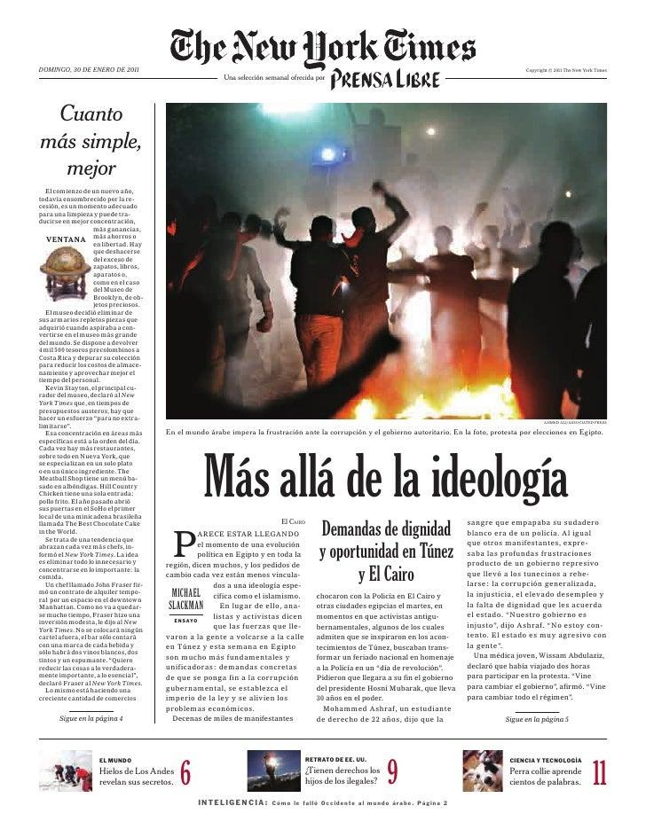 Domingo, 30 DE EnEro DE 2011                                                                                              ...