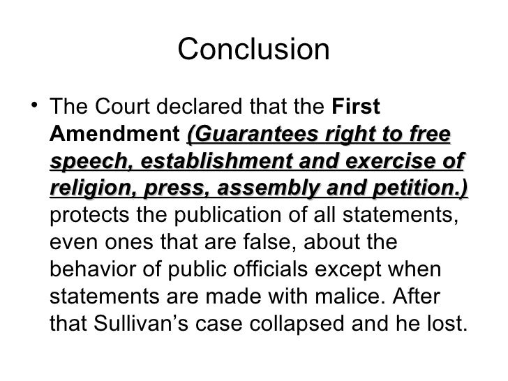 New york times v sullivan
