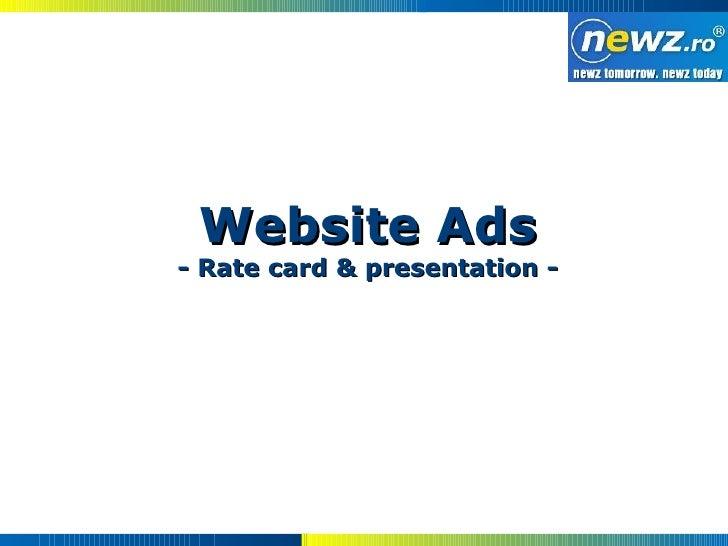 Website Ads - Rate card & presentation -