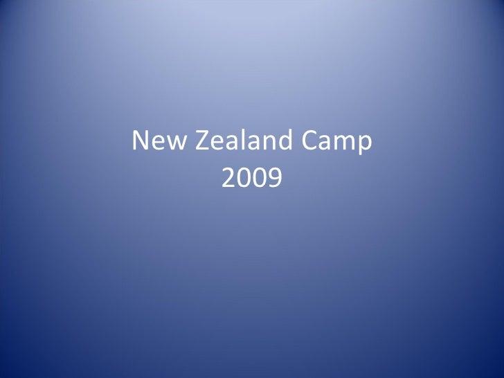 New Zealand Camp 2009