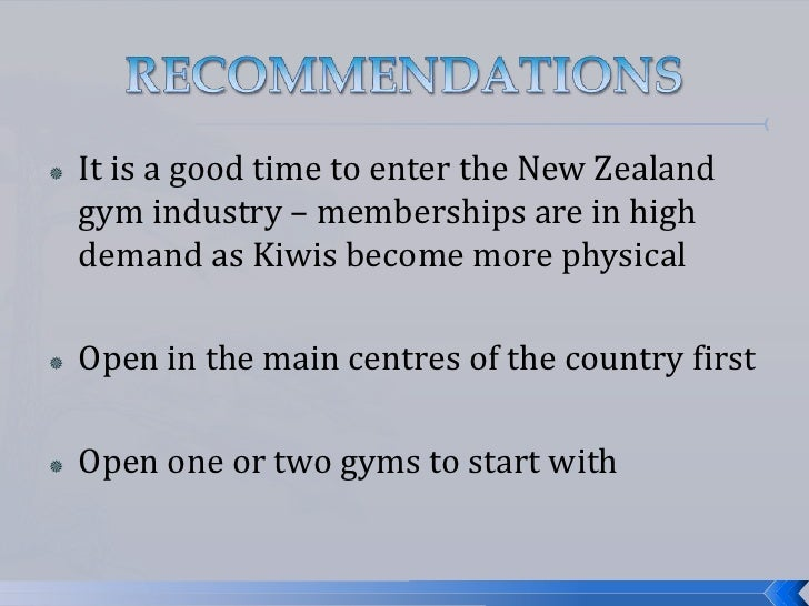 Fitness industry growth areas New Zealand 2014