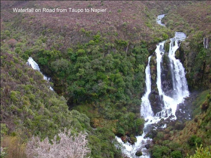 Waterfall on Road from Taupo to Napier