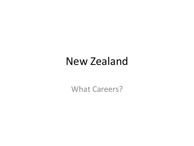 New Zealand What Careers?