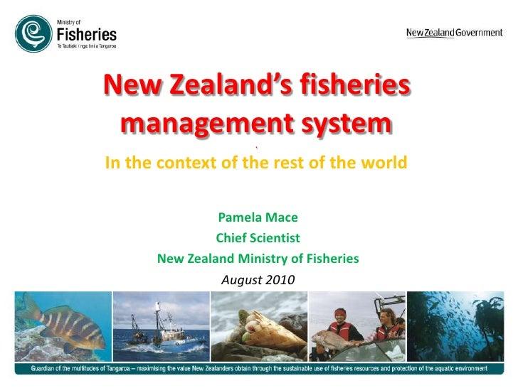 DO SOMETHING! Pamela Mace on NZ fisheries management