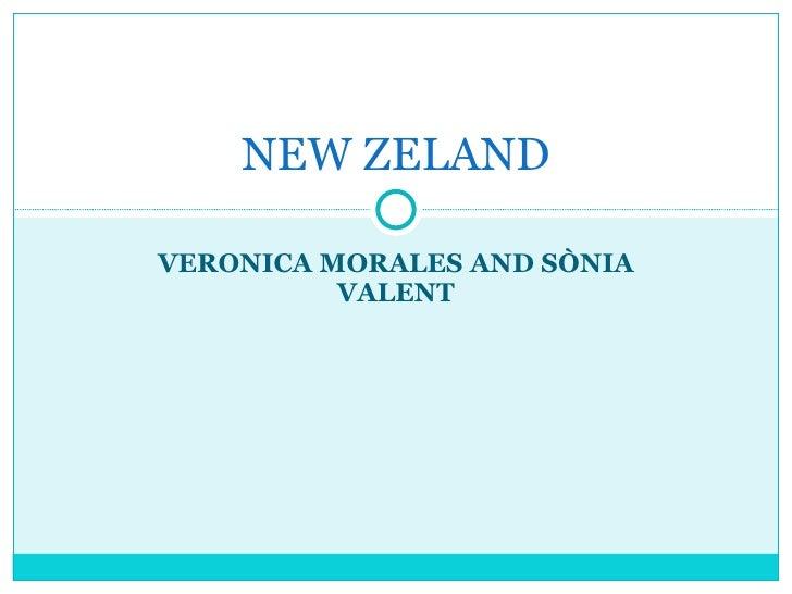 VERONICA MORALES AND SÒNIA VALENT NEW ZELAND