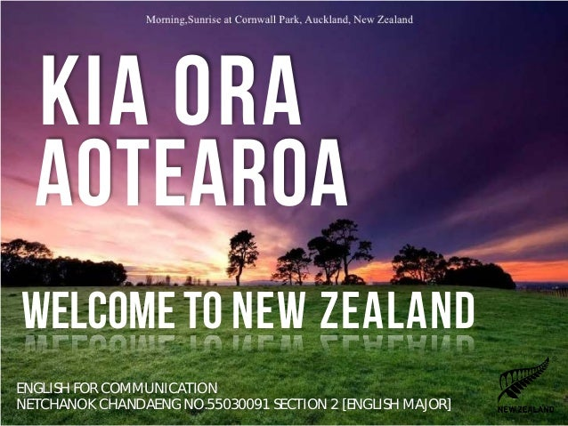 how to say welcome in new zealand
