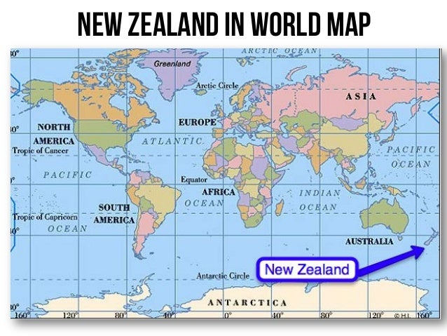 New Zealand By Ploy - World map new zealand