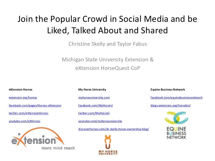 Join the Popular Crowd in Social Media and be              Liked, Talked About and Shared                                 ...