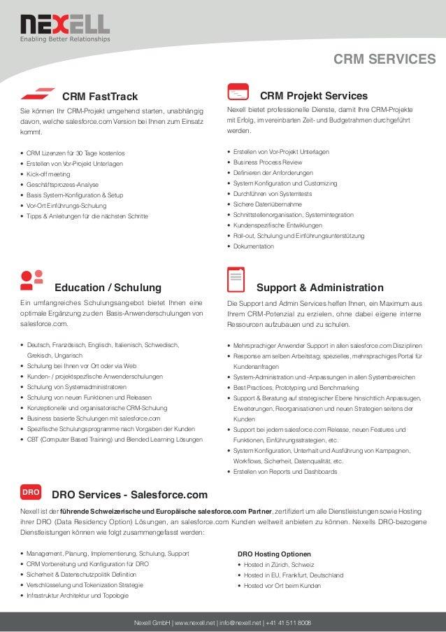 CRM SERVICES CRM FastTrack Sie können Ihr CRM-Projekt umgehend starten, unabhängig davon, welche salesforce.com Version be...