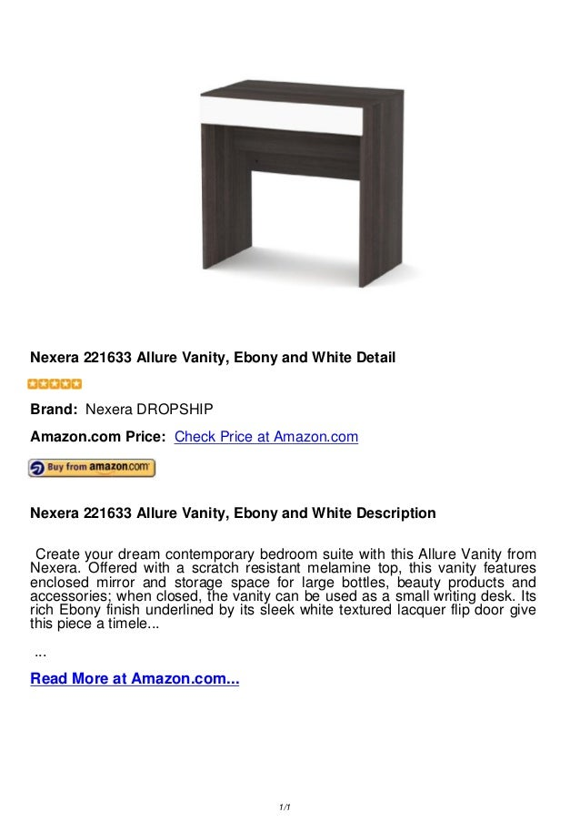 Fabulous Nexera 221633 Allure Vanity Ebony And White Gmtry Best Dining Table And Chair Ideas Images Gmtryco