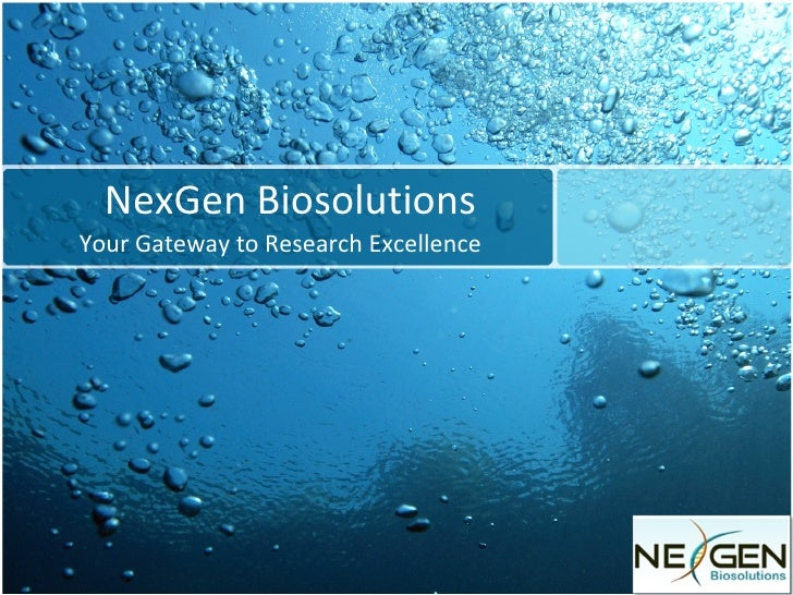 NexGen Biosolutions Your Gateway to Research Excellence