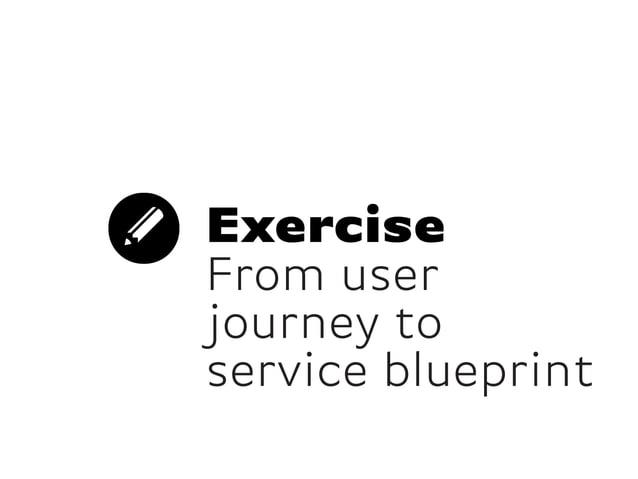 ExerciseFrom userjourney toservice blueprint