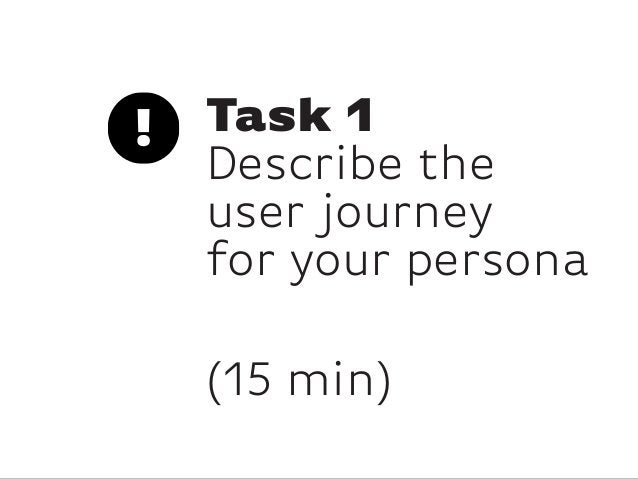 Task 1Describe theuser journeyfor your persona(15 min)