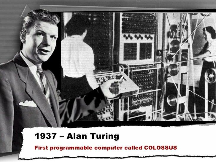 1937 Alan Turing First