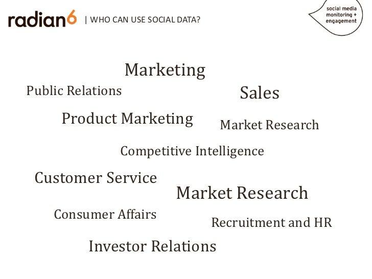 | WHO CAN USE SOCIAL DATA?                   MarketingPublic Relations                          Sales     Product Marketin...