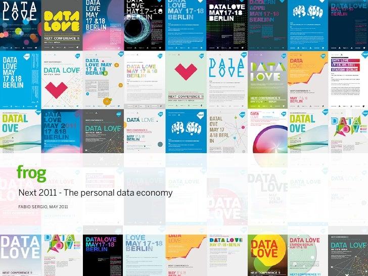 Next 2011 - The personal data economyFABIO SERGIO, MAY 2011