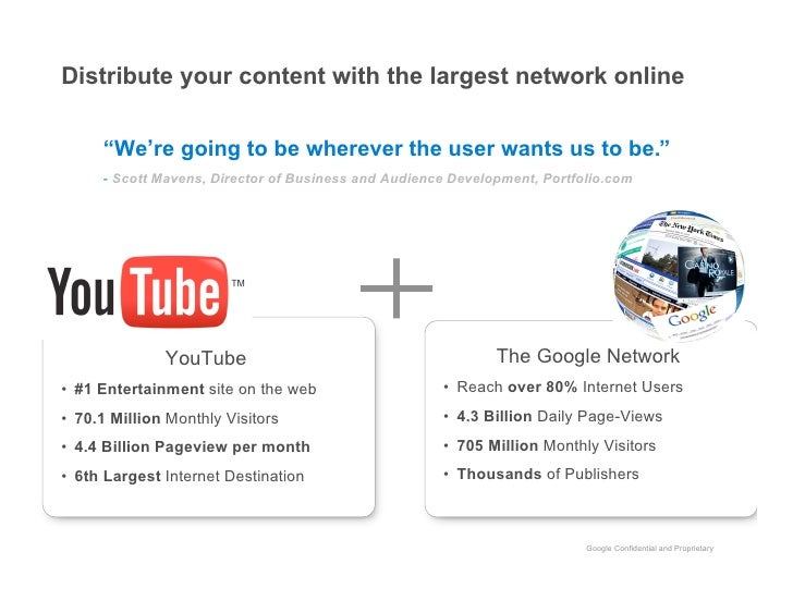 """Distribute your content with the largest network online        """"We're going to be wherever the user wants us to be.""""      ..."""