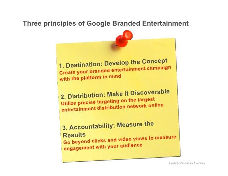 Three principles of Google Branded Entertainment                                                cept                      ...